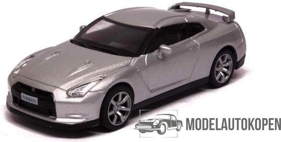 Nissan GT-R 2008 (Zilver) 1/43 Magazine models - Modelauto - Schaalmodel - Model auto - Miniatuurautos - Miniatuur auto