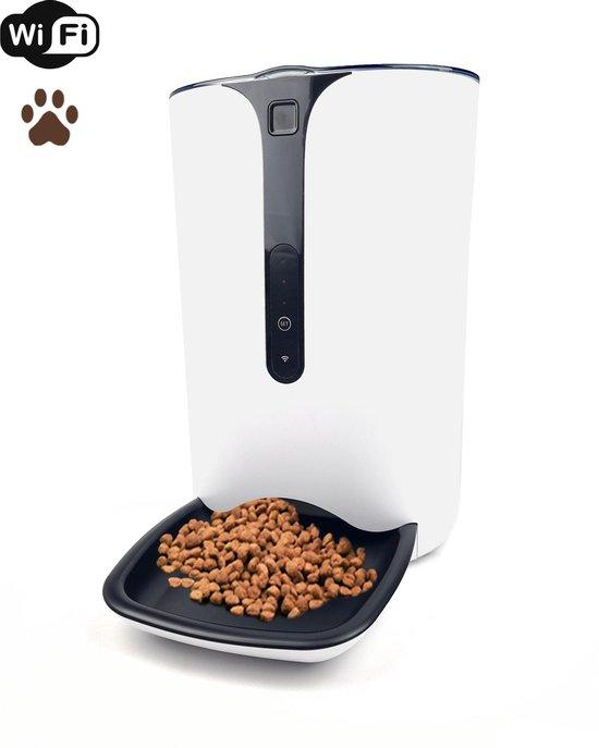 Automatische Voerbak met Wifi – Voerautomaat – Hond, Kat en Konijn – Voederbak – Wit