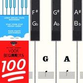 Piano stickers inclusief 2 e-books - Leren spelen - Voor beginners - eenvoudig leren spelen - Pianolessen lesboek - Muziek noten - 88 - Keyboard - Witte en zwarte toetsen