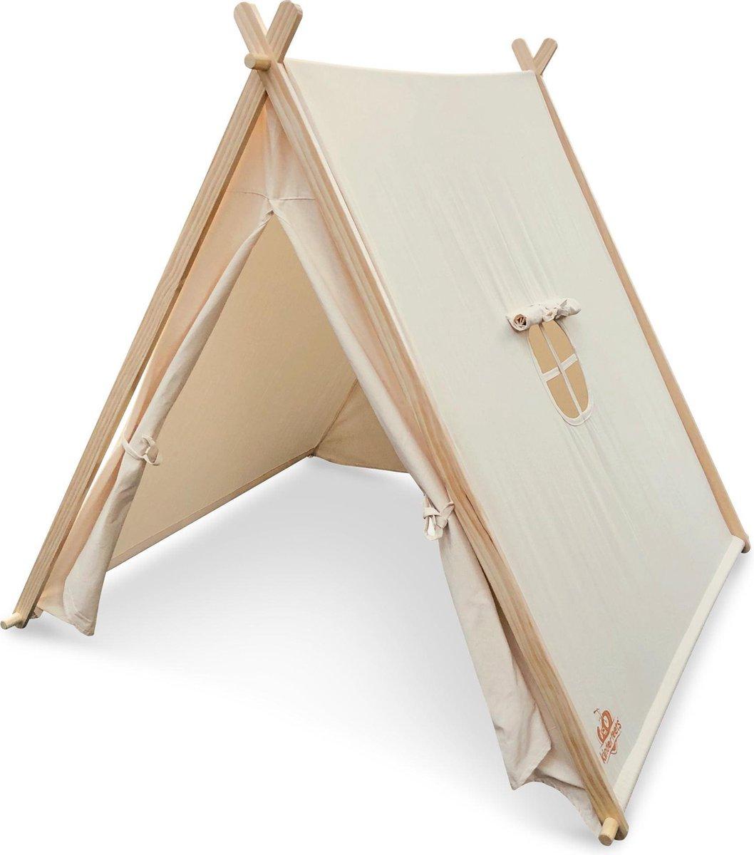 Kinderfeets Tent - Hout/ Katoen - Voor Binnen en Buiten