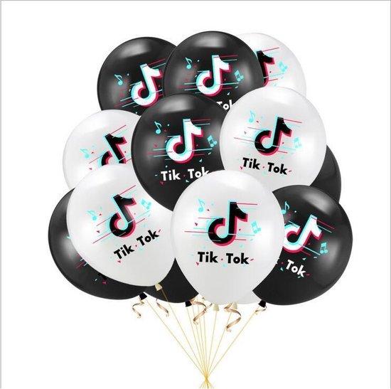TikTok Ballon 10 + 10 gratis Tik Tok Ballonnen Verjaardag Feestje Decoratie