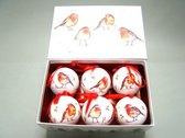 Kerstbal winter robins