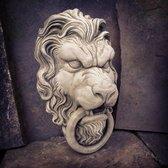 Betonnen hoofd leeuw - tuinbeeld