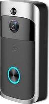 Fedec Wi-Fi Video Deurbel met Camera - Zwart - Draadloos - 720P - App - Plug and Play