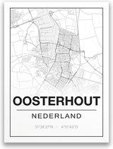 Poster/plattegrond OOSTERHOUTNB - 30x40cm