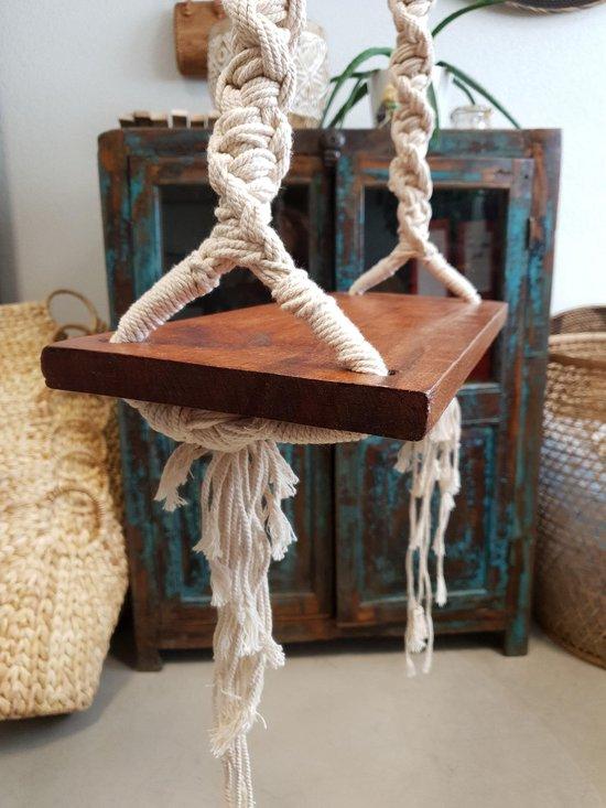macramé - schommel - hout - ibizastijl
