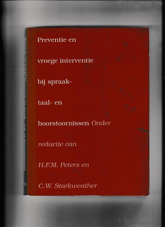 Preventie en vroege interventie spraakstoornis - none   Fthsonline.com