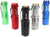 2 Stks Blauwe kleur MECO Q5 500LM Multicolor Zoomable Mini LED zaklamp 14500 / AA