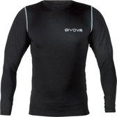 Thermoshirt zwart lange mouwen GIVOVA MAE12 CORPUS 3 underwear Maat 2XS
