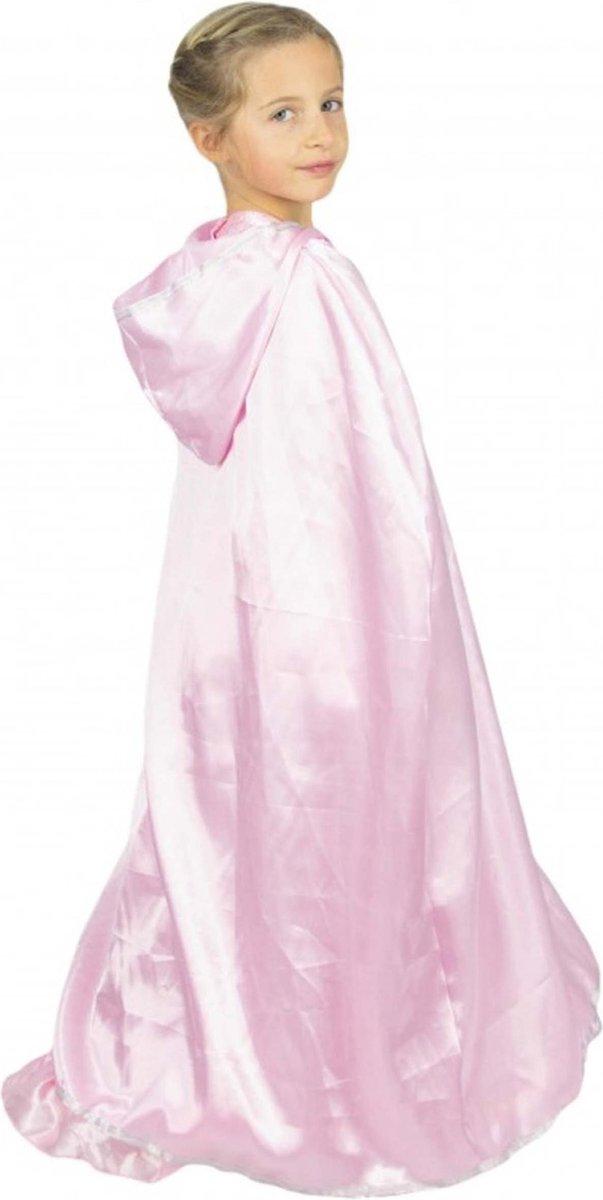 PARTYPRO - Candy roze prinses cape voor kinderen - Accessoires > Capes