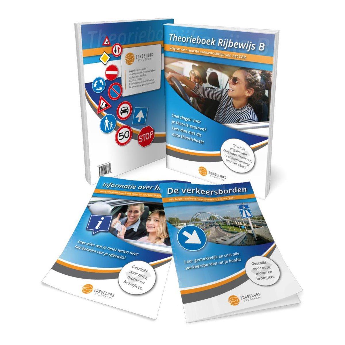 Auto Theorieboek Rijbewijs B 2021 - Auto Theorie Boek met CBR Informatie en Verkeersborden
