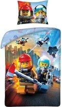 Lego City Dekbedovertrek: 140x200/70x90 cm