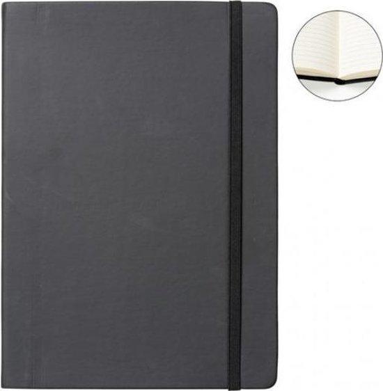 Notitieboek A4 zwart met harde kaft en elastiek