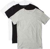 Tommy Hilfiger Shirt - Maat M  - Mannen - zwart/ grijs/ wit
