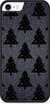 iPhone 7 Hardcase hoesje Snowy Christmas Trees