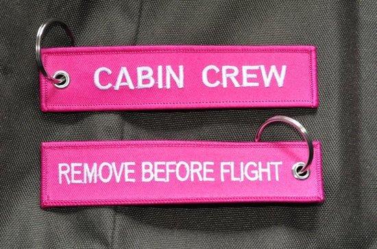 Cabin Crew sleutelhanger Rose