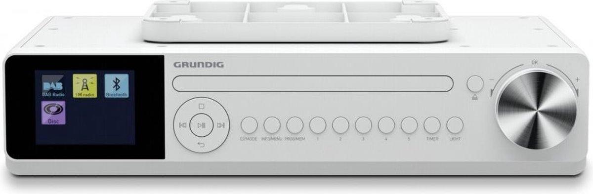 Grundig DKR2000BT Keukenradio met Bluetooth, DAB+, CD - Wit