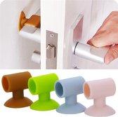 Deurstop|Deur beschermer|Deur stopper deurklink bescherming - WIT