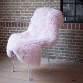 Texels schapenvacht - Oud roze schapenvacht
