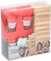 Lifetime Games Drunken Tower drinkspel - drankspel - Tipsy tower shotspel - Met 4 shotglazen en 60 stenen
