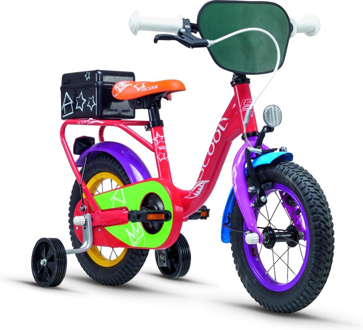 S'cool Kinderfiets 12 inch  niXe chalk steel 12 red coloured online kopen