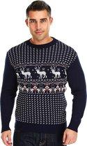 "Foute Kersttrui ""Klassiek & Stoer"" Mannen | Heren - Vintage Kersttrui - Noorse Kersttrui - Christmas Sweater Maat M"