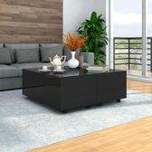 Salontafel 100x100x35 cm hoogglans zwart
