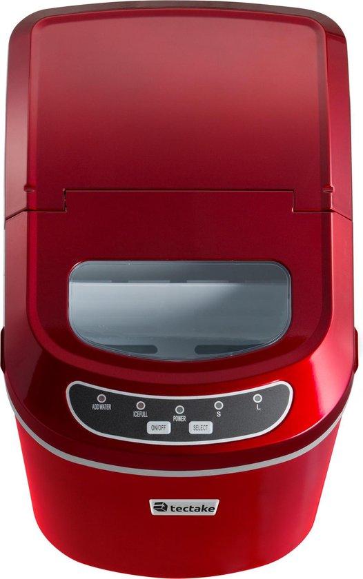 Tectake IJsblokjesmaker rood 400475