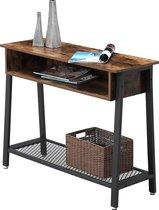 VASAGLE console tafel in industrieel ontwerp | Vintage tafel | Dressoir | Eenvoudig gemonteerd | Leuk in entree, en woonkamer | Vintage houtlook