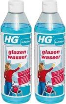 HG Glazenwasser - 500 ml - 2 Stuks !