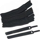 Klittenband Kabelbinders 50 stuks van 14CM - Zwart - Kabel Organizer - Klittenband - Kabels Bundelen - Kabels Ordenen - Geen Rommelige Snoeren Meer