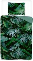 Snoozing Jungle - Dekbedovertrek - Eenpersoons - 140x200/220 cm + 1 kussensloop 60x70 cm - Green