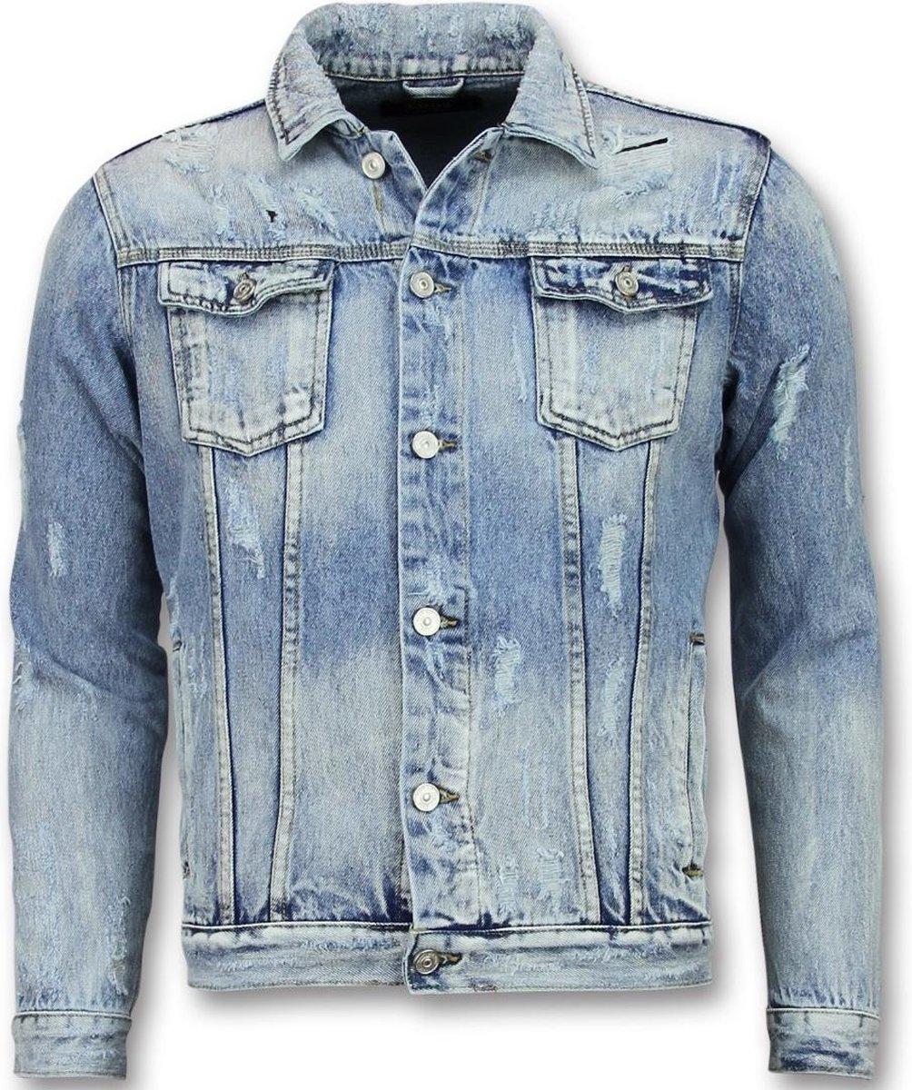 Enos Spijkerjack Heren Spijkerjas Mannen Jeans Jas Blauw Maat: S