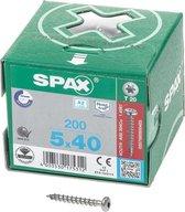 Spax Spaanplaatschroef cilinderkop RVS T-Star T20 5.0x40mm (per 200 stuks)