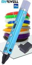 XXL-Set: 3D Pen MyRiwell PRO, 12x10m PLA+ CLIPS+ 3D-PAD+ ADAPTER