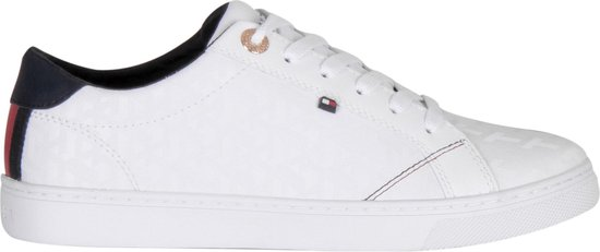 Tommy Hilfiger Tommy Jacquard Witte Sneakers Dames 38 w9xKEP4V