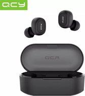 QCY T2C GS2 (2e gen) - TWS True Wireless Stereo - Draadloze Oordopjes - BT Oortelefoon - Bluetooth 5.0 - Microfoon - In-Ear Oortjes - Zwart
