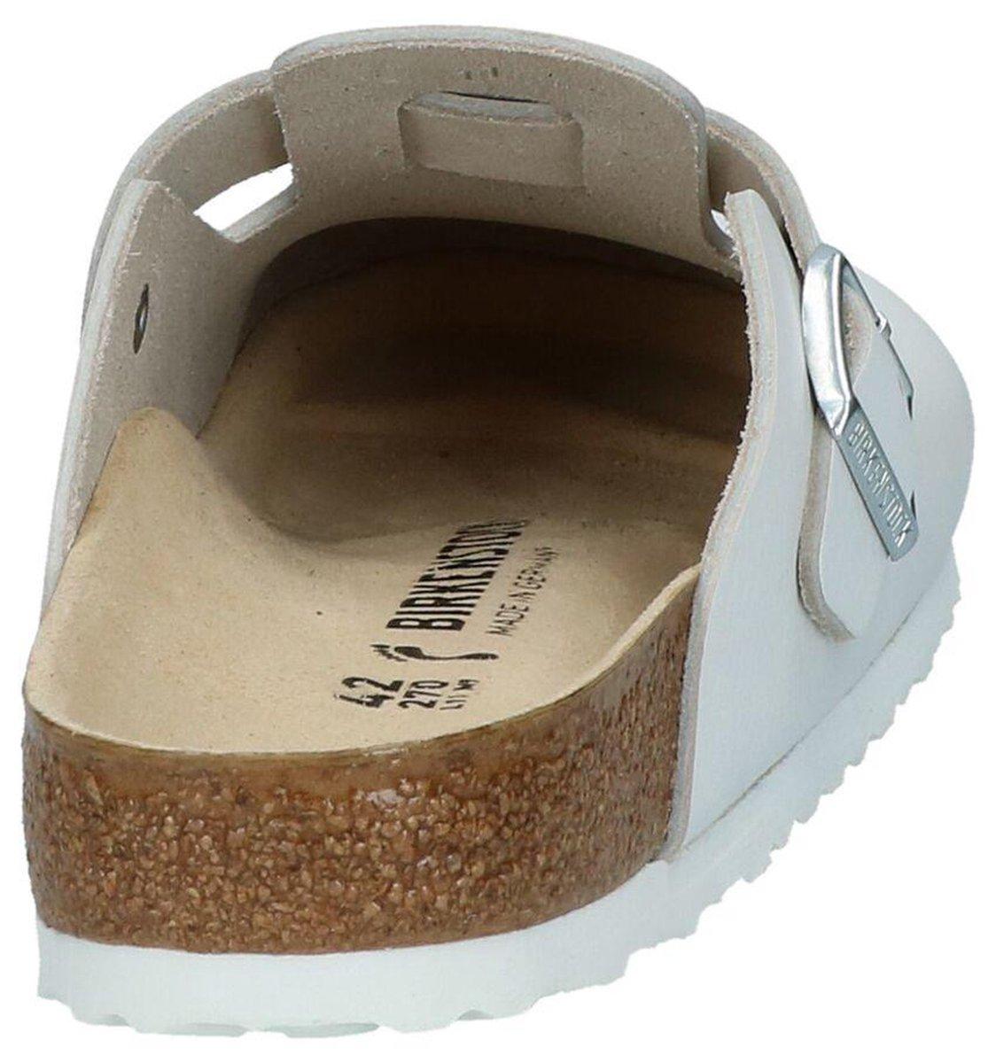 Birkenstock Boston Heren Slippers - Wit - Maat 42 Slippers