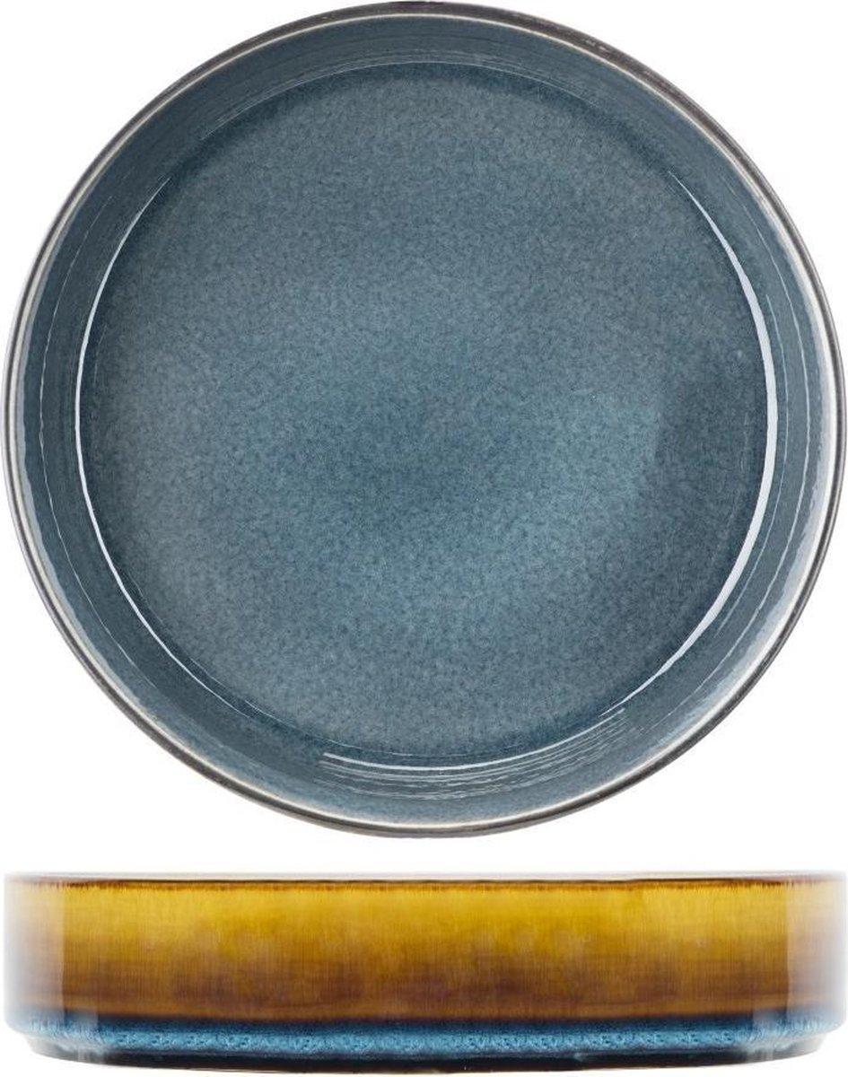 Servies: Quintana Blue diep bord 23 cm (set van 3)