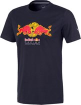 PUMA Red Bull Racing Double Bull Tee Heren Sportshirt - NIGHT SKY - Maat XL