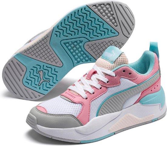 PUMA X Ray Jr Kinderen Sneakers - Puma White-High Rise-Peony-Gulf  Stream-Rosewater - Maat 37.5