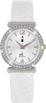 Little Miss Fabulous WJ2035-1C - Horloge - Leer - Wit - Ø 30 mm