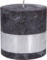 PTMD Kaars Rustic Charcoal black blokkaars 10x10