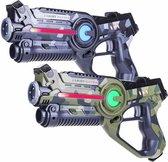 Light Battle Active Camo Lasergame Laserguns - Groen/Grijs - 2 Laser game pistolen set