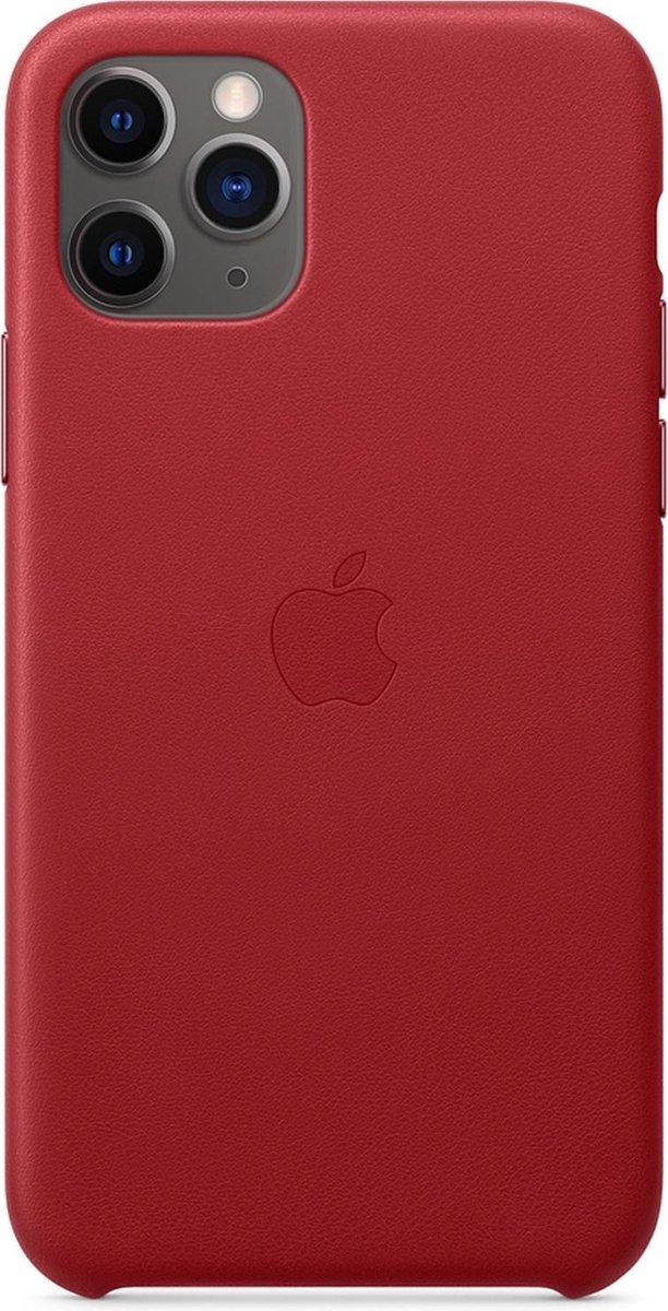 Apple Leren Hoesje voor iPhone 11 Pro - Rood