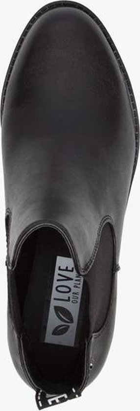 | Love our planet vegan dames chelsea boots Zwart