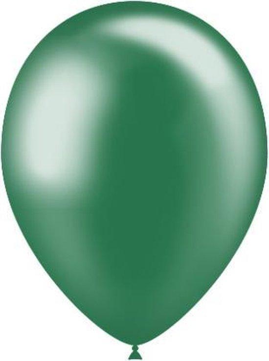 Donkergroene Ballonnen Metallic 25cm 10st