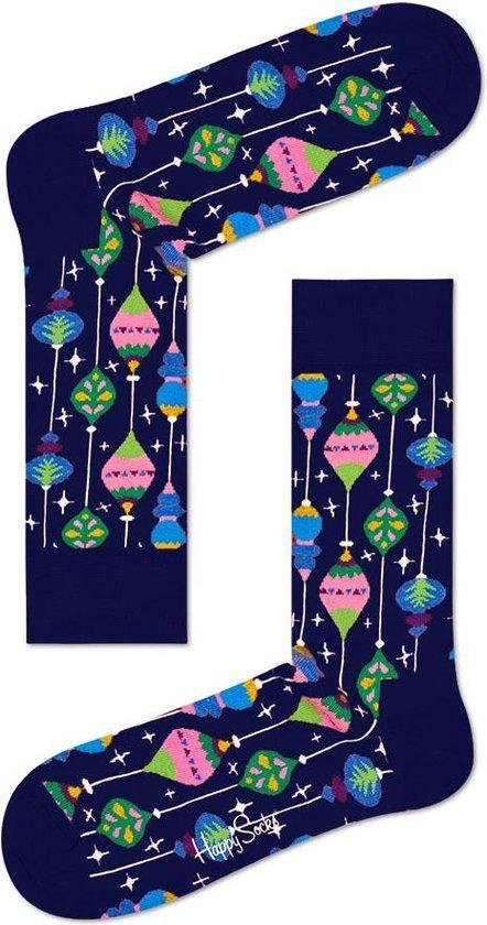 Happy Socks - Happy Holiday Christmas - kerstbal- Blauw Multi - Unisex - Maat 41-46
