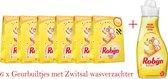Robijn Zwitsal Geurbuiltjes - 6 x 3 stuks - Voordeelverpakking + fles Zwitsal Wasverzachter