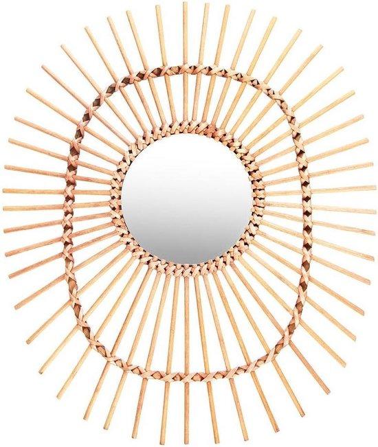 &Klevering - Bamboe Spiegel Ovaal